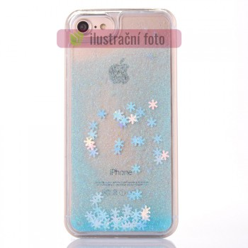 BACKCASE SNOWFLAKES LIQUID pouzdro / obal / kryt na APPLE iPhone 7 (4.7) / iPhone 8 (4.7) / iPhone SE (2020) - BLUE
