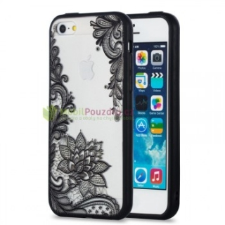 Gelové BUMPER pouzdro / obal / kryt na APPLE iPhone 7 (4.7) / iPhone 8 (4.7) / iPhone SE (2020) - vzor BLACK LACE