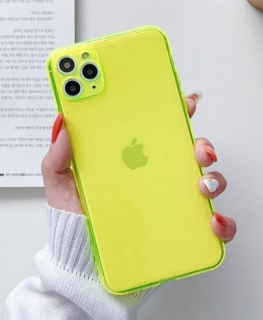 Gelové NEON zelené pouzdro / obal / kryt na APPLE iPhone 7 (4.7) / iPhone 8 (4.7) / iPhone SE (2020)