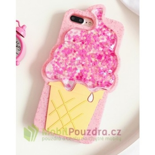 Gelové ICE CREAM LIQUID 3D pouzdro / obal / kryt na APPLE iPhone 7 (4.7) / iPhone 8 (4.7) / iPhone SE (2020)