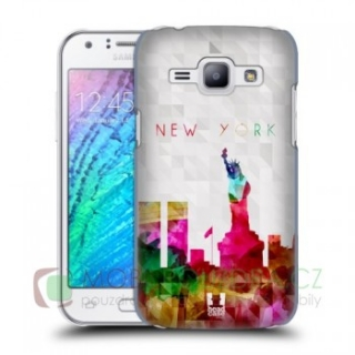 HEADCASE pouzdro na SAMSUNG J100 Galaxy J1 - vzor WATERCOLOR NEW YORK