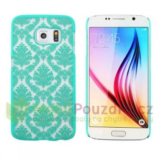 BACKCASE pouzdro / obal / kryt na SAMSUNG G928 Galaxy S6 EDGE Plus - vzor TURQUOISE LACE